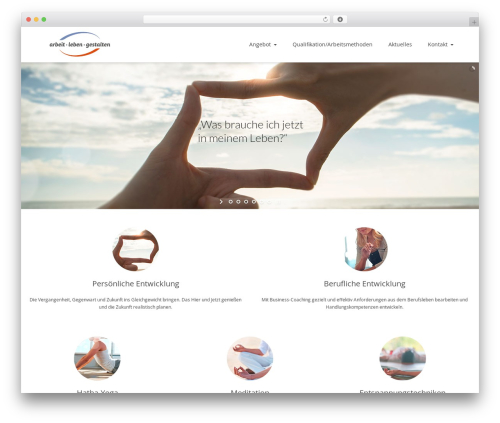 Nimva theme WordPress - arbeitgestalten.de