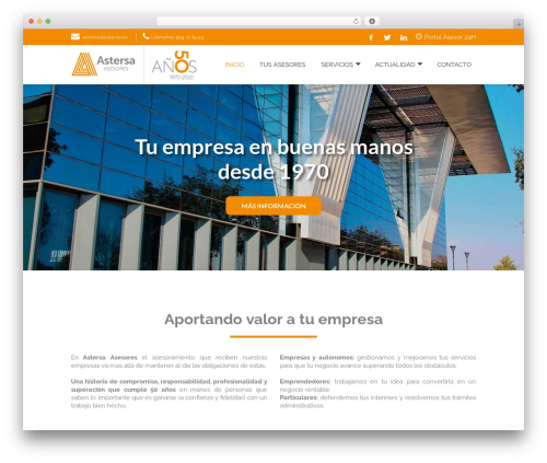 Nimva WordPress theme - astersa.es