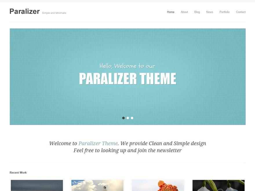 Paralizer company WordPress theme