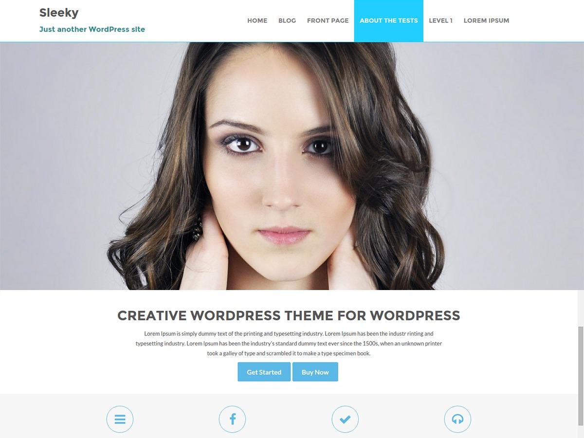Sleeky Pro Child company WordPress theme