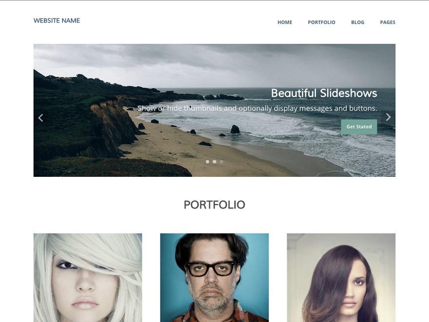 Sumner WordPress gallery theme