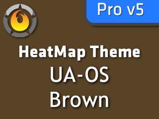 WordPress template HeatMap UA-OS Brown (HMT Pro Skin)