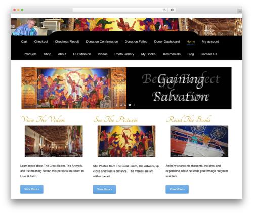 WordPress template The7 - anthonysgreathall.com