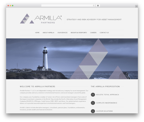 WordPress theme Quare - armillapartners.com