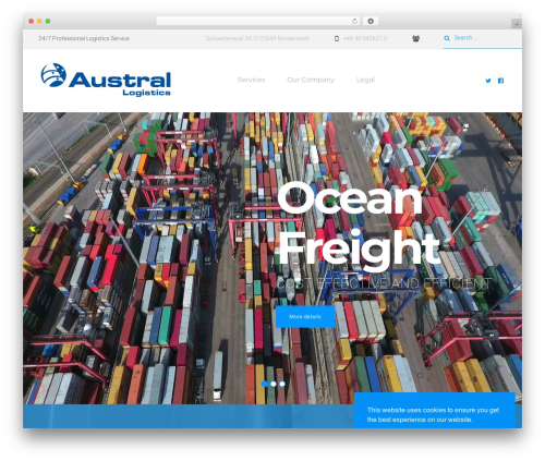 WordPress website template Roadway - austral-logistics.de