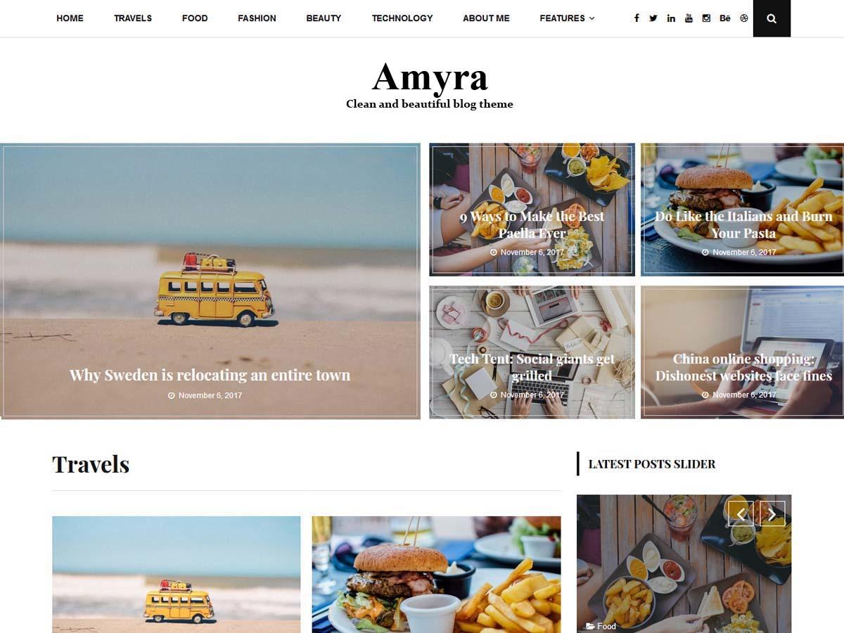Amyra WordPress blog theme