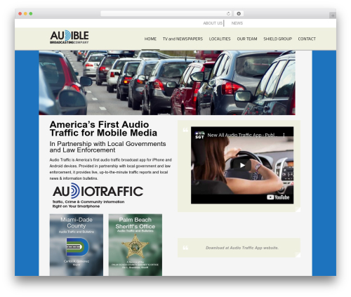 AppMojo business WordPress theme - audiblebroadcasting.com/audible-trafic-reports