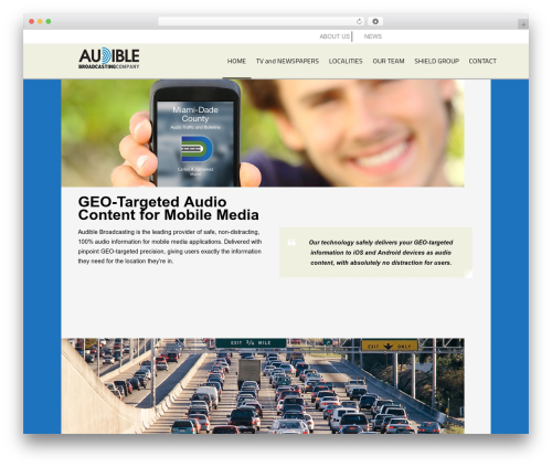 AppMojo WordPress template for business - audiblebroadcasting.com