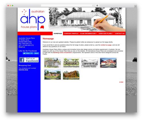 Best WordPress theme Atahualpa - australianhouseplans.com.au
