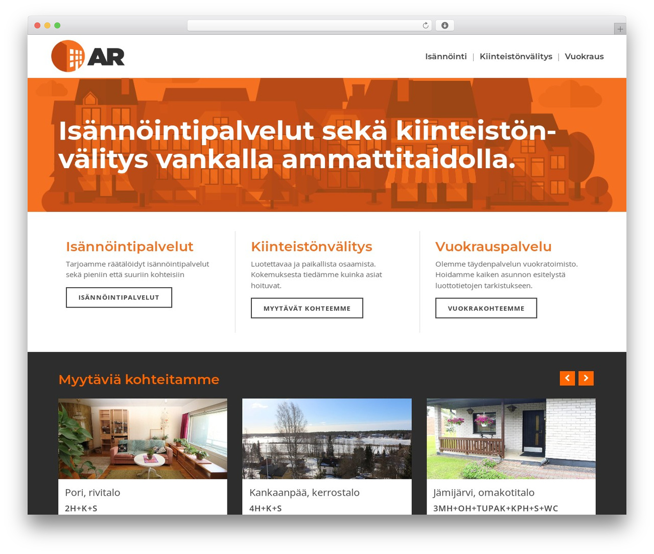 Bridge WordPress website template - arisannointi.fi
