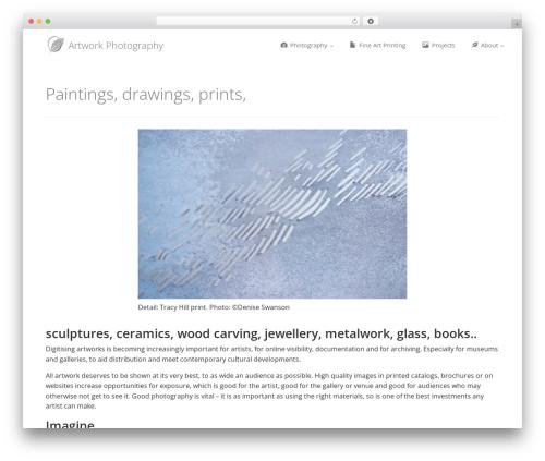 Enlightenment WordPress theme image - artworkphotography.co.uk