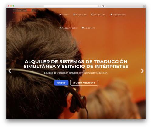 Enliven WordPress website template - audiovisualescodec.com
