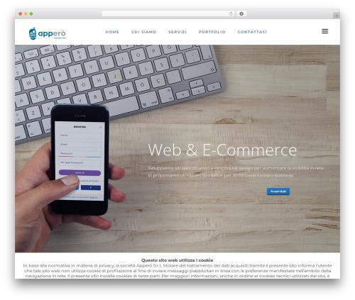 Fusion best WordPress template - apperosrl.it/site