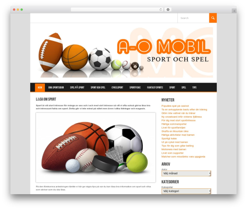 Koenda template WordPress - aomobil.se
