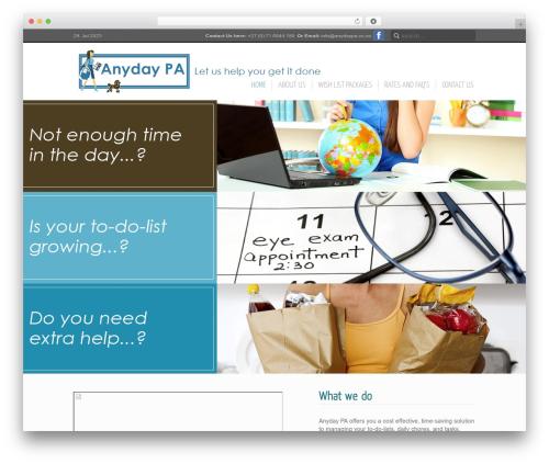 Theme WordPress Inspire - anydaypa.co.za