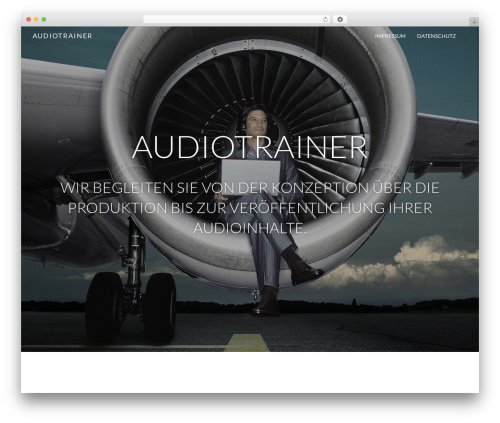 Theme WordPress Juniper - audiotrainer.de