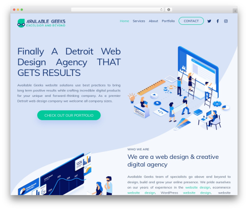Themify Ultra WP template - availablegeeks.com