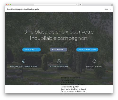 WordPress template neve - cimetiereanimalier.com