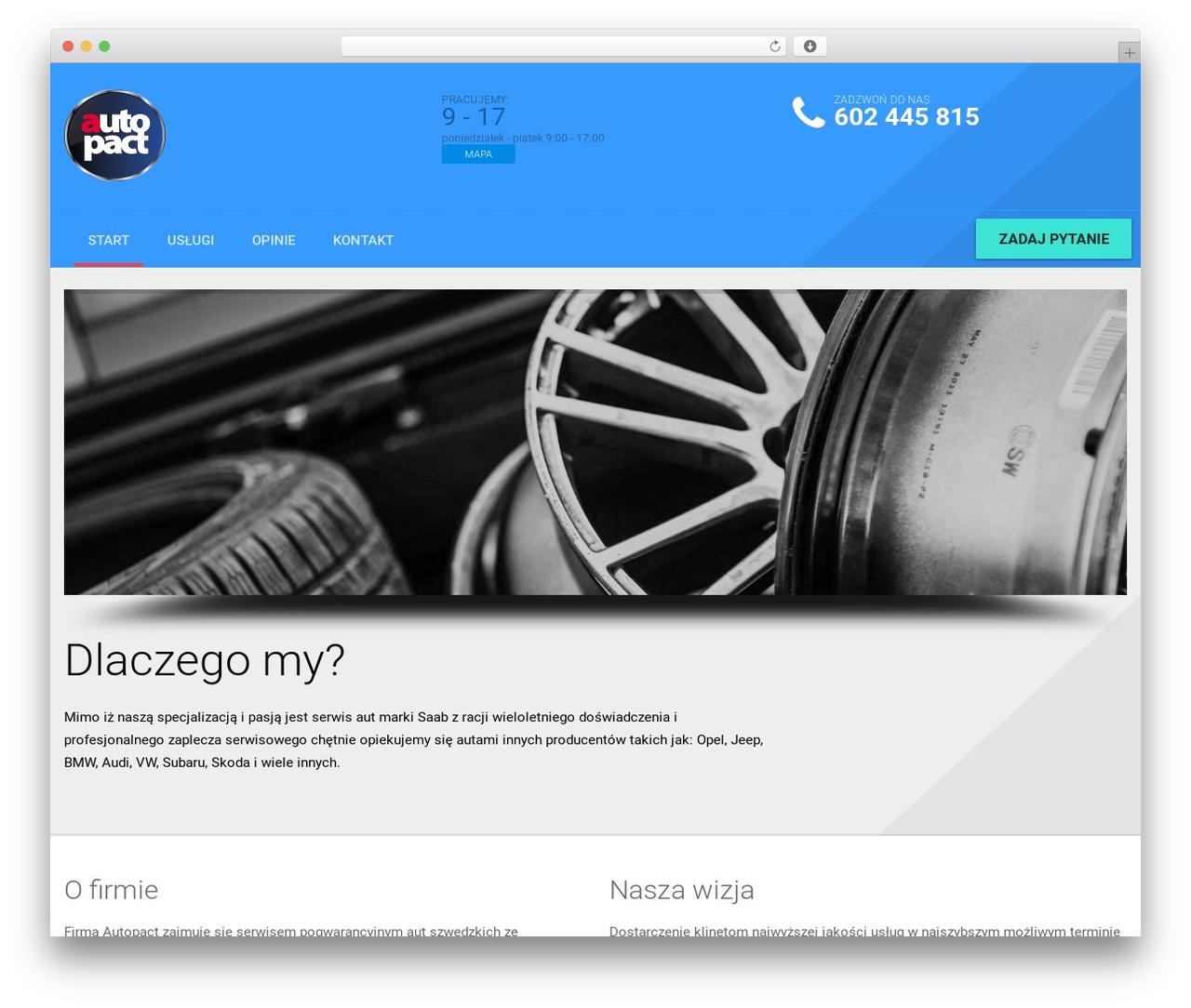 AutoRepair WordPress theme - autopact.pl