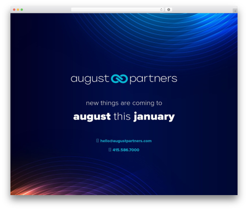 Best WordPress template August Partners - augustpartners.com
