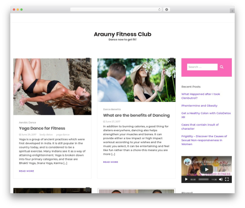 Bootstrap Blog WordPress blog template - arauny.org