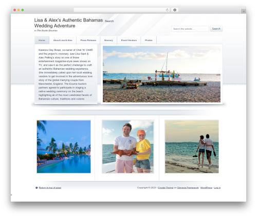 Crystal Child Theme WordPress page template - authenticbahamasweddingadventure.com