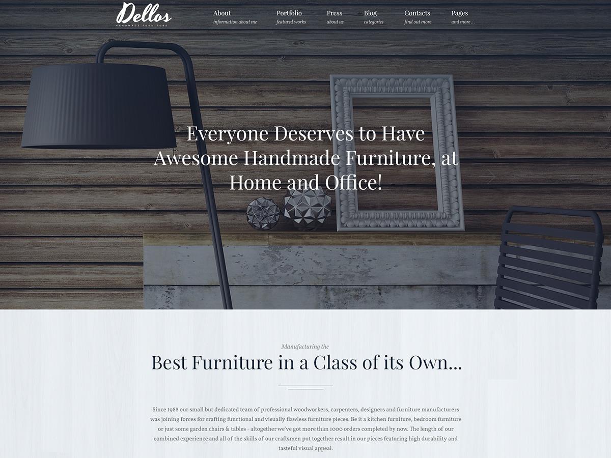 Dellos company WordPress theme