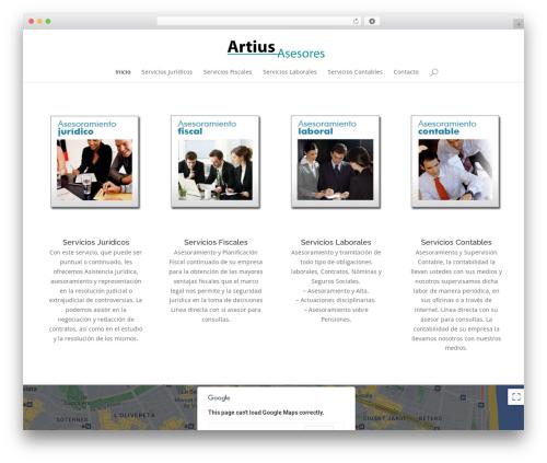 Divi WordPress theme - artiusasesores.com