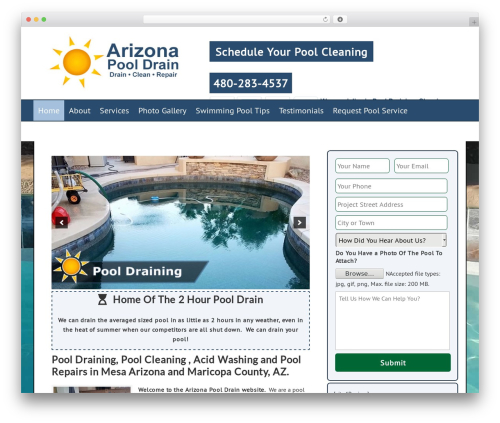 Dynamik-Gen company WordPress theme - arizonapooldrain.com
