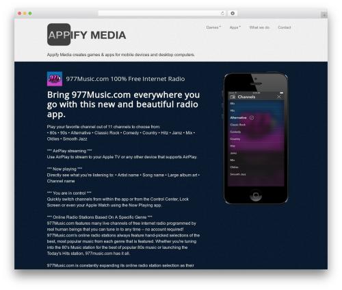 Template WordPress AppifyWP Pro - appifymedia.com