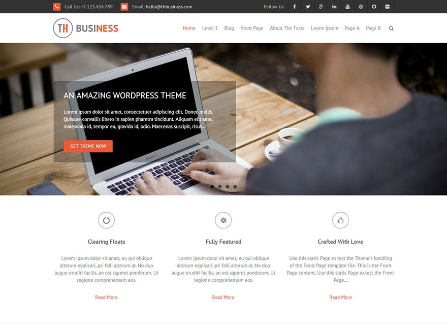 THBusiness WordPress template for business