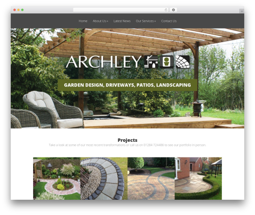 Vertex best free WordPress theme - archleylandscapesolutions.com