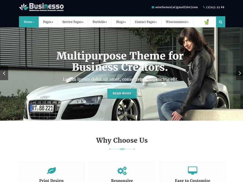 Abubize Business WordPress theme free download