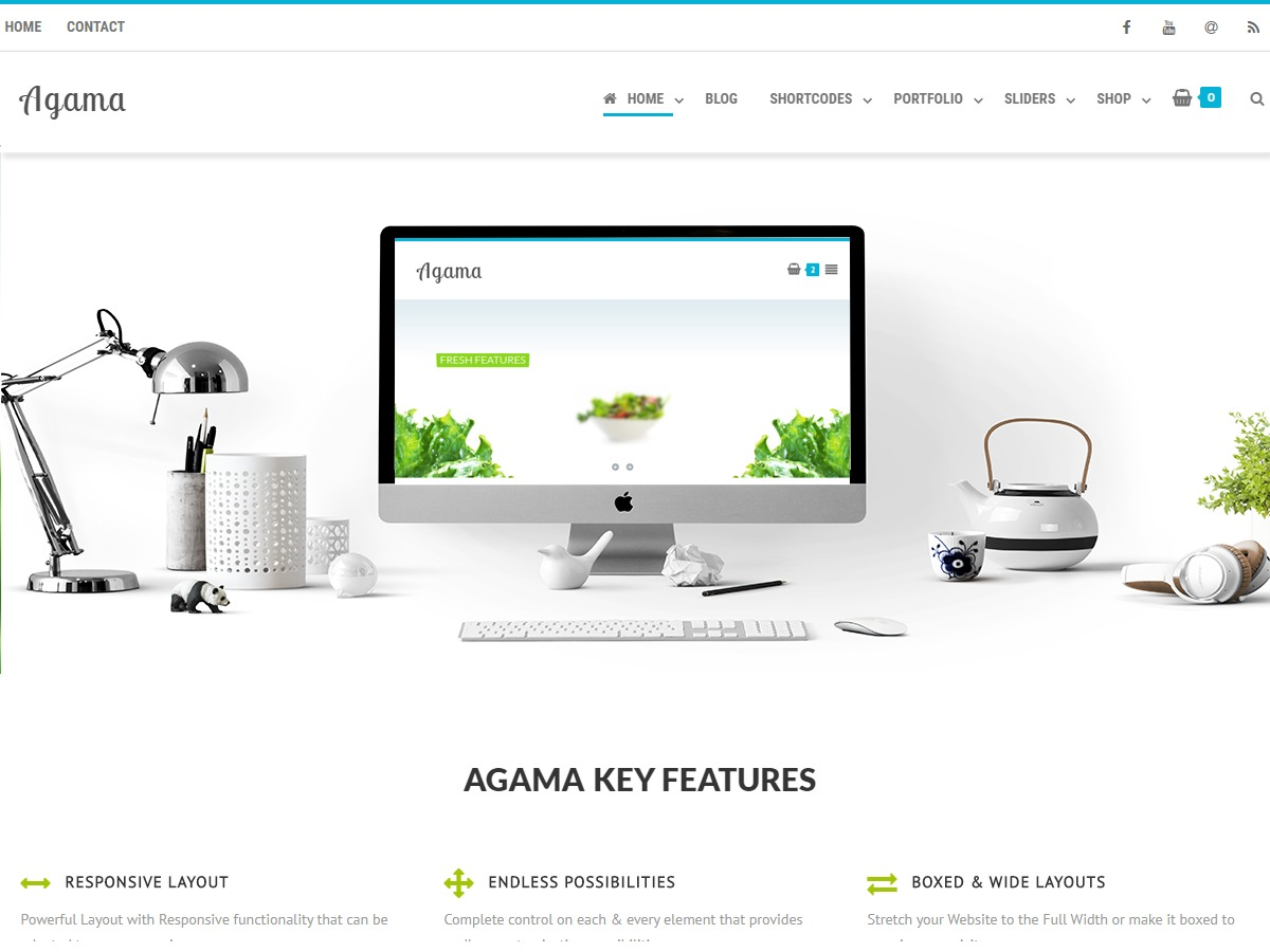 Agama WordPress photo theme