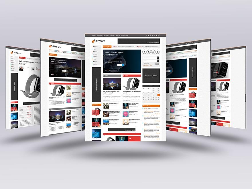 AlYoum Premium Blog/Magazine WordPress Theme WordPress blog theme