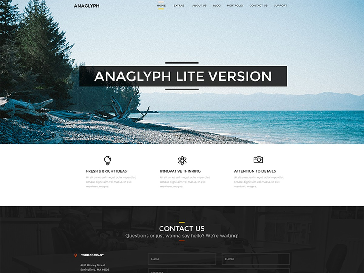 Anaglyph Lite best free WordPress theme