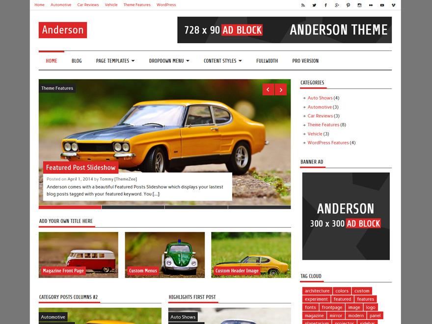 Anderson Lite free WordPress theme