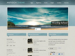 Antioch (Free Edition) WordPress template