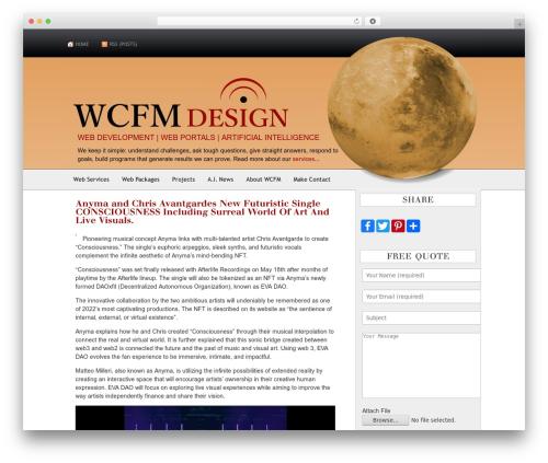 AppleX template WordPress - wcfmdesign.com