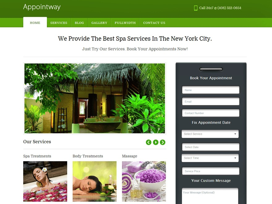 Appointway Pro Theme wallpapers WordPress theme