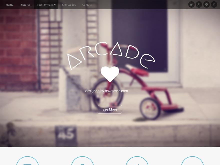 Arcade photography WordPress theme