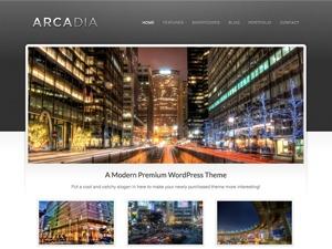 Arcadia personal blog WordPress theme
