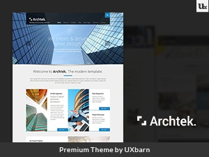 Archtek WordPress template for business