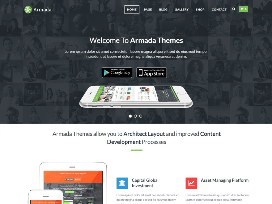Armada WordPress template for business