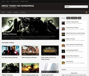 Arras WordPress blog template