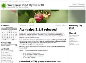 Atahualpa WordPress template for photographers
