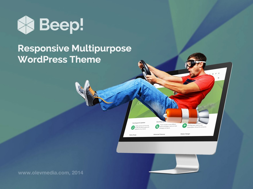 Beep top WordPress theme