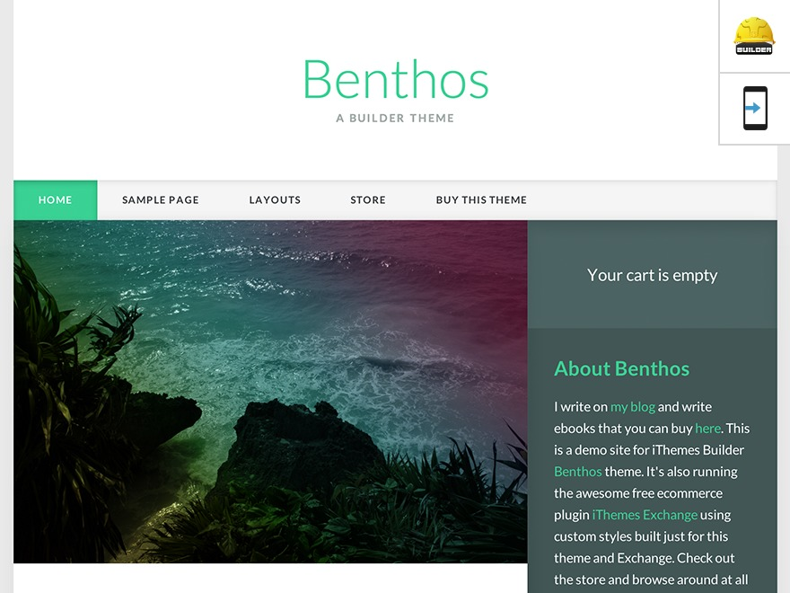 Benthos top WordPress theme