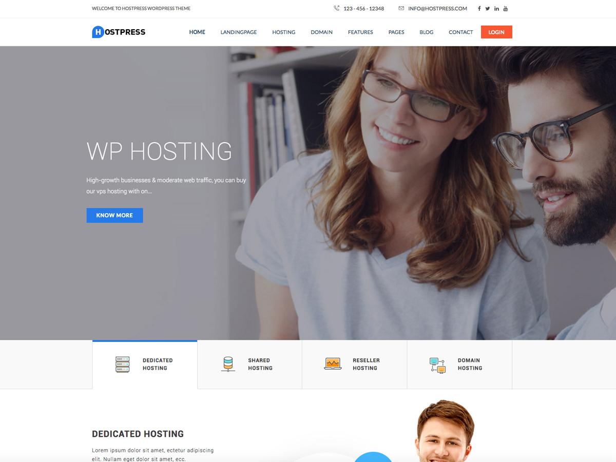 Best WordPress template HostingPress