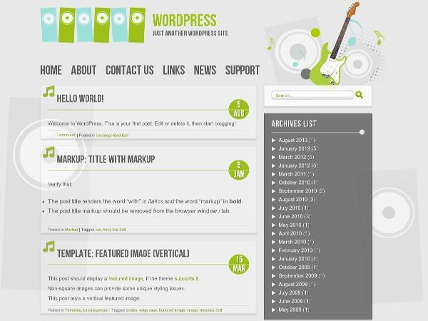 Best WordPress template Music